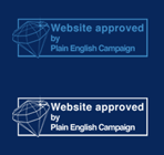 Website Approved by Plain English Campaign